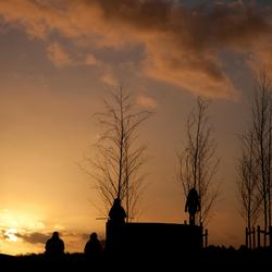 zonsondergang op de Posbank