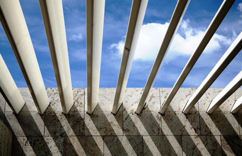 Abstract - Een abstracte foto vanaf het dak van de bibliotheek in Amsterdam.