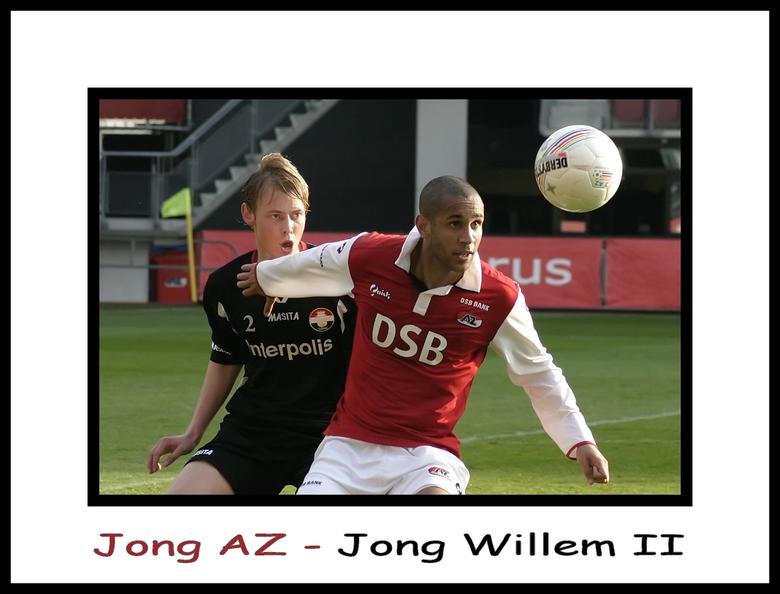 Jong AZ-Jong Willem II - Maandag naar deze wedstrijd geweest.De foto is gemaakt met Tamron 70 - 300 mm 4.5 - 5.6 .In totaal 351 foto's gemaakt.wa