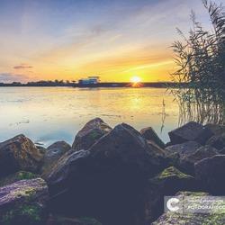 Zonsondergang op de IJssel