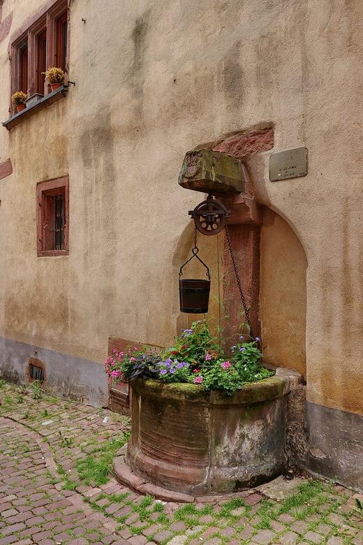 Riquewihr Elzas Frankrijk. - Riquewihr is een van de meest drukbezochte plaatsen in de Elzas waar veel te zien is, zo als prachtige straatjes met vakw