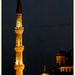 Minaret by night