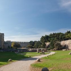Natuur Rhodos oude stad Griekenland