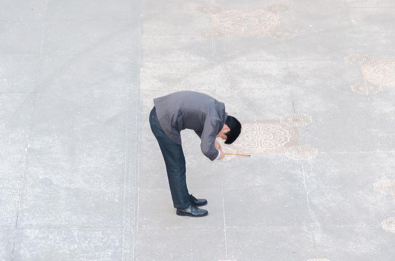 City God Tempel Shanghai - Devotie tijdens een bezoek aan de Boeddhistische tempel.