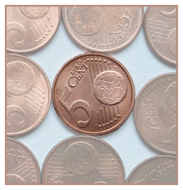 5 cent - Mijn docchter wilde haar geld tellen....