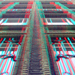 Gevel bankgebouw Blaak Rotterdam 3D