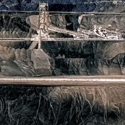 die Strukturen der Schichten auf Braunkohlebergbau