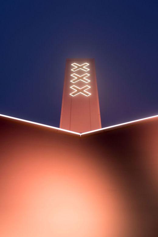 Adam toren - De Adam toren in de mist. Van bovenaf niets van de stad te zien, maar dit gaf nog wel een mooi beeld.