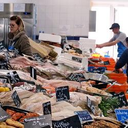 Vismarkt in Le Tréport.