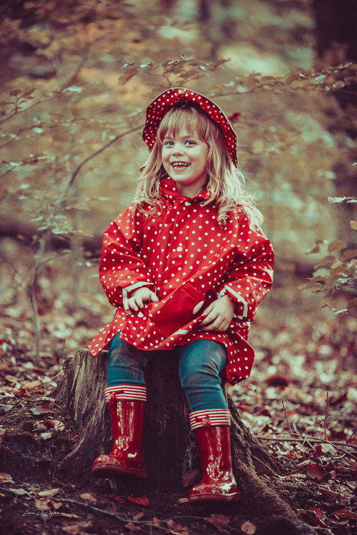 Mijn roodkapje, op stap in het grote bos... -