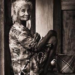 Woman on her veranda