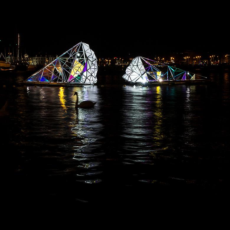 Amsterdam Light Festival - Vanwege blijkbaar onvoldoende voorbereiding kon ik die avond in Amsterdam maar heel weinig kunstwerken vinden, dit is dus 1