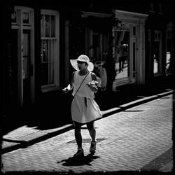 a tourist in Amsterdam
