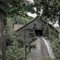 Oude houtzagerij