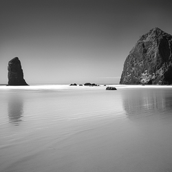 Laag water in Cannon Beach (OR)_