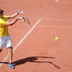 Op de tennisbaan