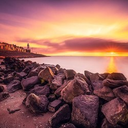 Zonsondergang bij Urk..