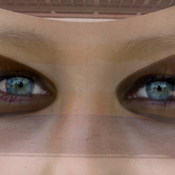 a bridge with eyes