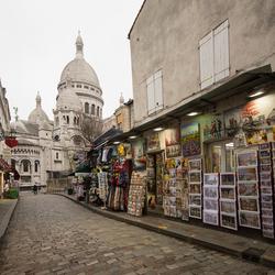 Parijs - Montmartre - Rue du Chevalier de la Barre - Sacré Coeur