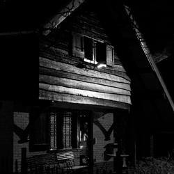 Half houten huisje