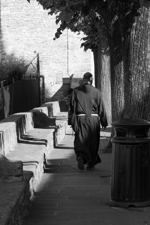 Monnik in Assisi