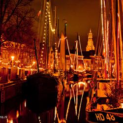 Verlichte zeilboten Groningen