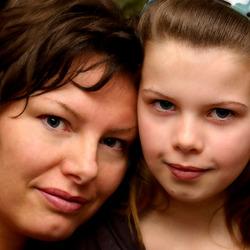 zelfportret moeder en dochter