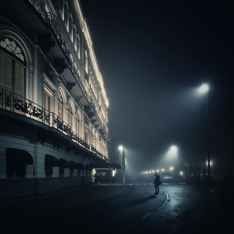 Rotterdam in mist