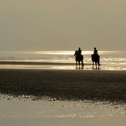 Meisjes te paard