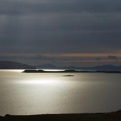 Avond Loch Bay, Schotland
