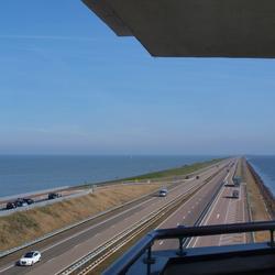 Uitzicht vanaf uitkijktoren Afsluitdijk