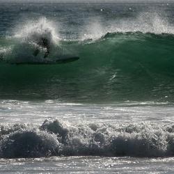 Surfen in de golven