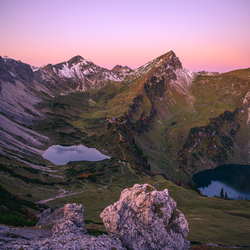 Zonsopgang in de Oostenrijkse alpen