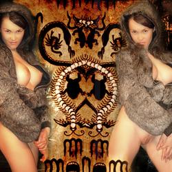 Kim in fur double