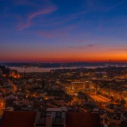 Zonsondergang Lissabon
