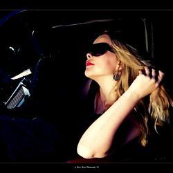 Samantha in her Car!