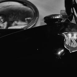 NSU Motorrad  & frühe Jungen träumen