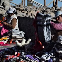 Peruaanse Markt kooplui