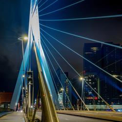 Rotterdam Erasmusbrug by night