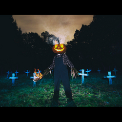 Pumpkins scream in the dead of night
