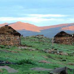 Morning in Lesotho