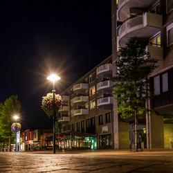Museumplein Drachten in de avond