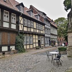 Oude vakwerkhuizen in Quedlinburg, foto 2.