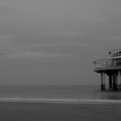 De Pier in zwart-wit