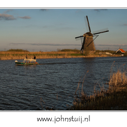 Windy evening at Kinderdijk
