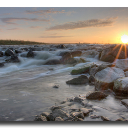 sunset at the stone beach