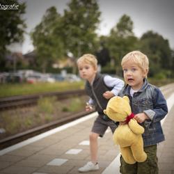 de eerste keer met de trein