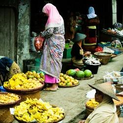 Lokale markt op Java