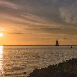 Avond aan het IJsselmeer.