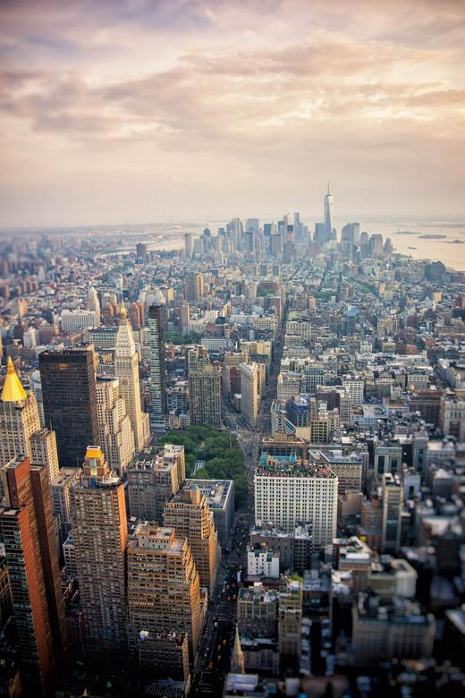 Empire State of Mind - Uitzicht vanaf het Empire State Building richting het Financial District in New York City